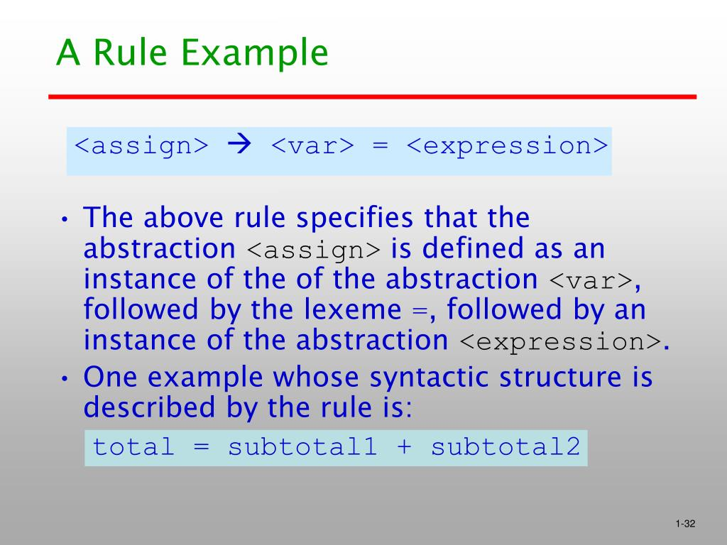 A Rule Example