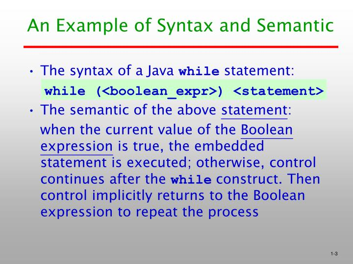 An example of syntax and semantic