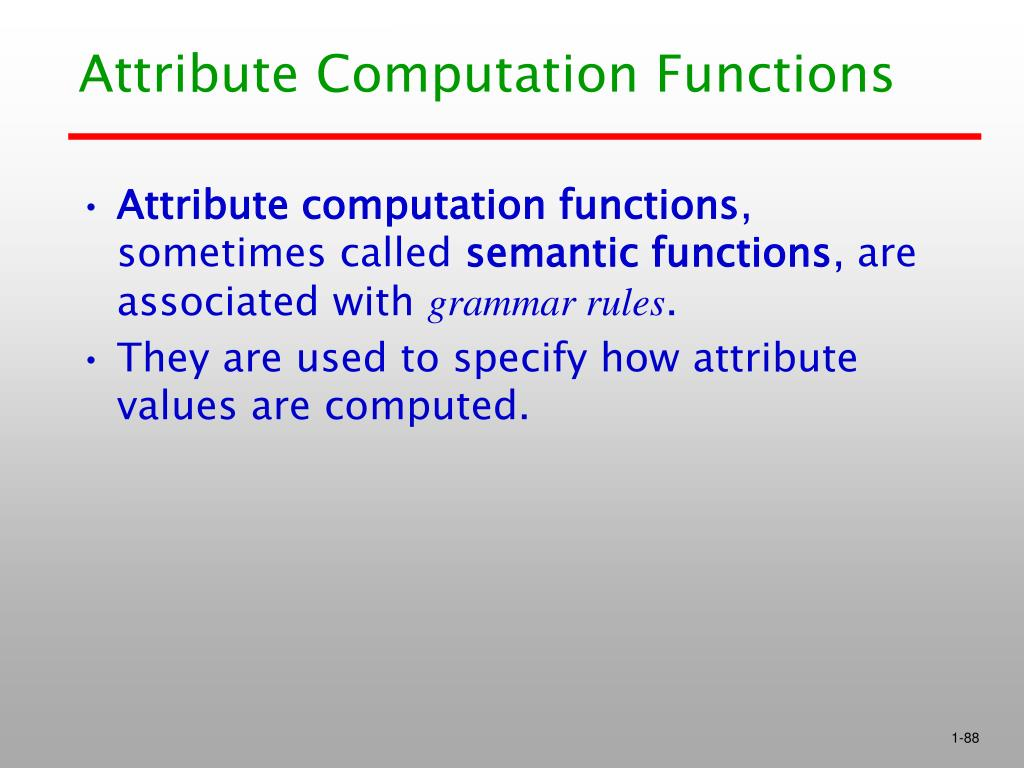 Attribute Computation Functions