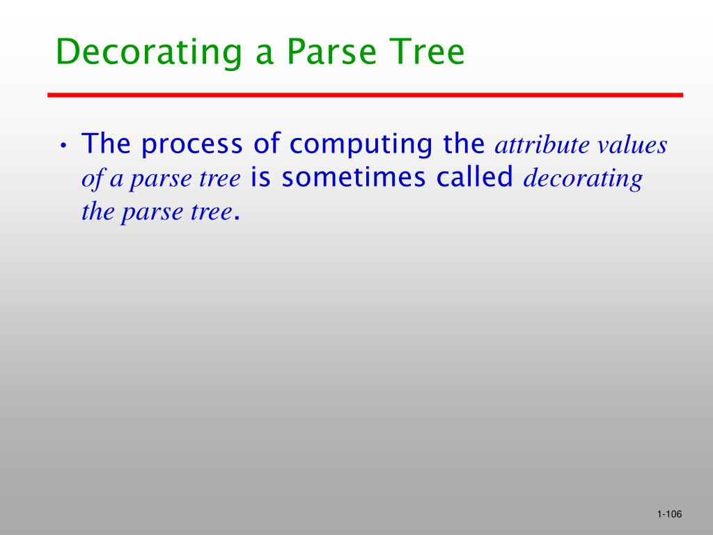 Decorating a Parse Tree