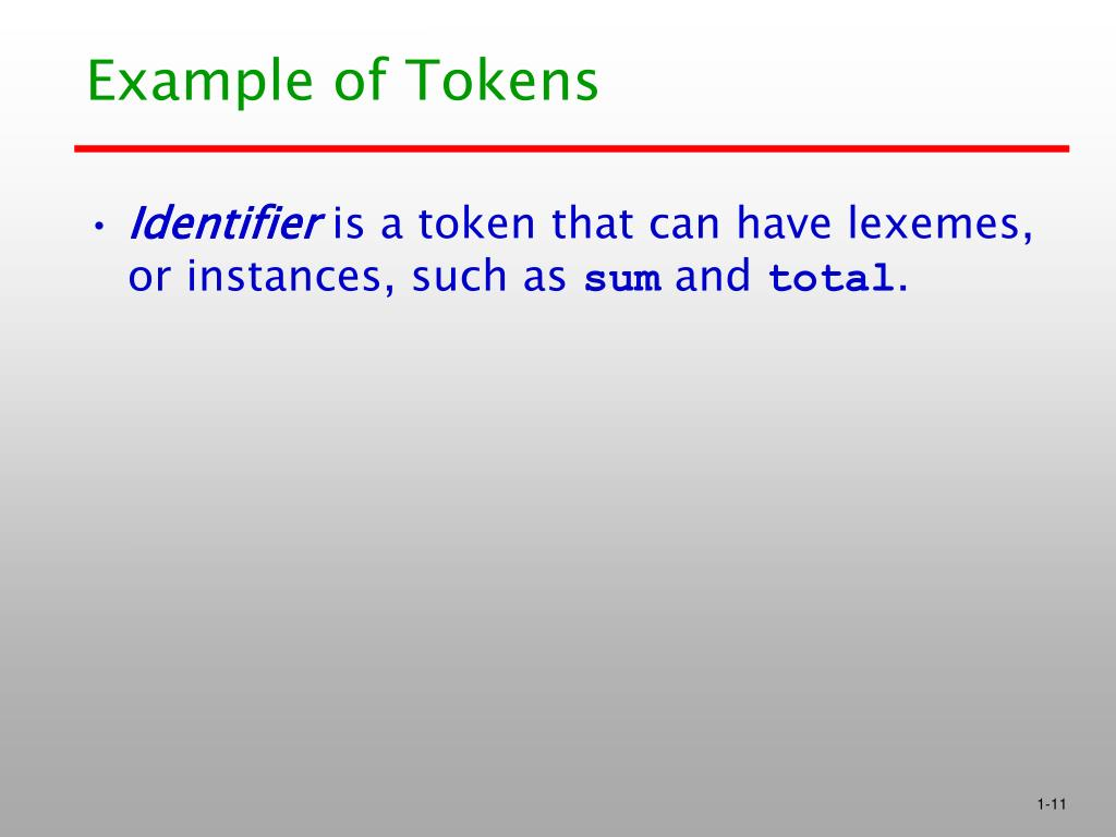 Example of Tokens