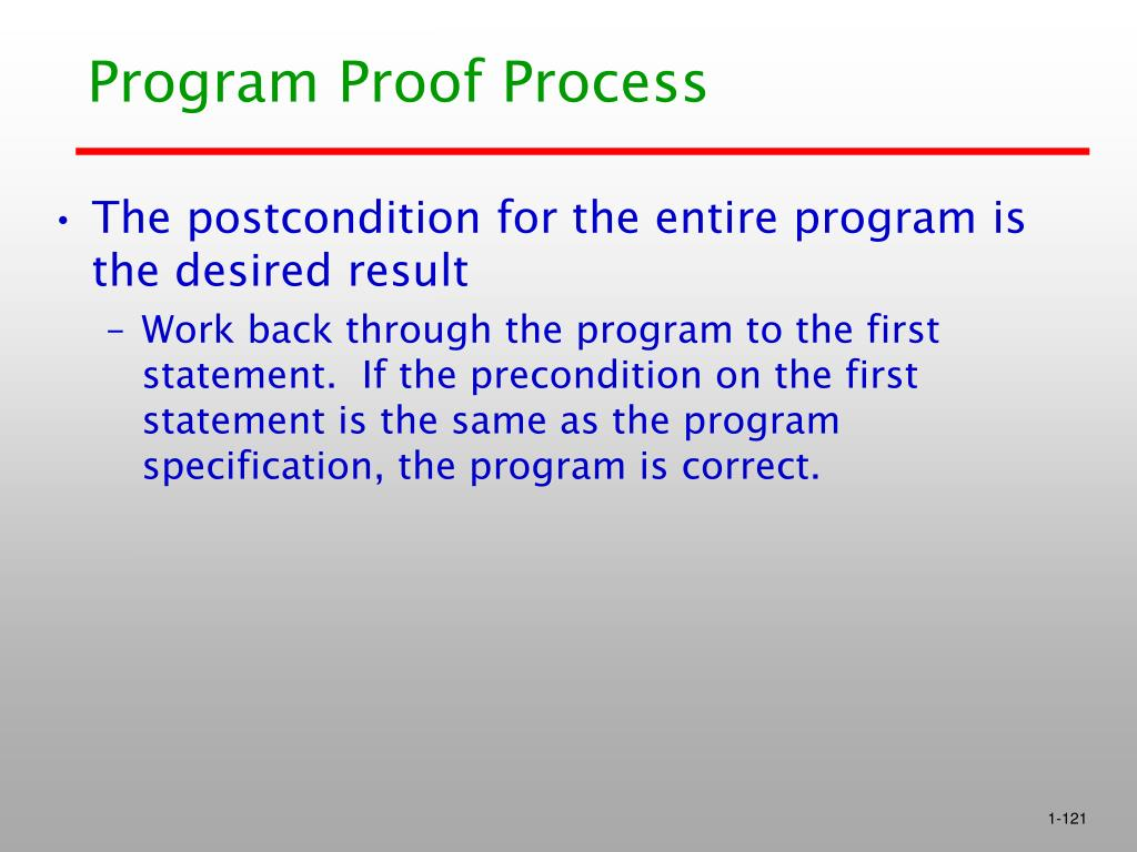 Program Proof Process