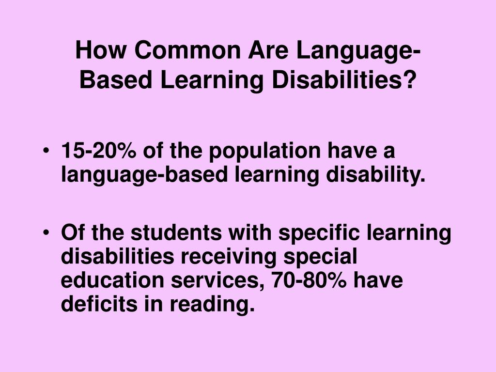 How Common Are Language-Based Learning Disabilities?