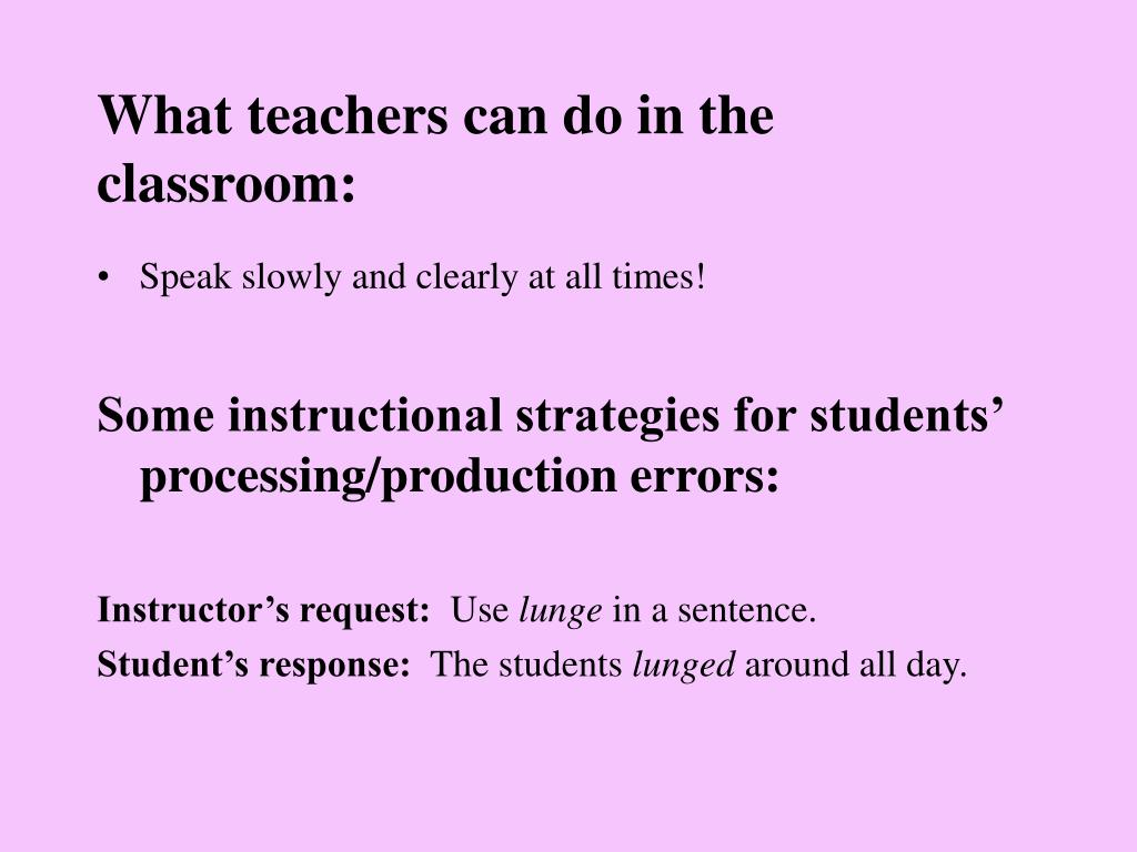 What teachers can do in the classroom: