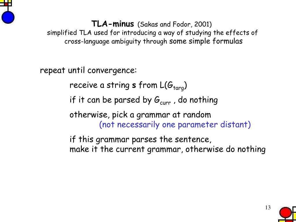 TLA-minus