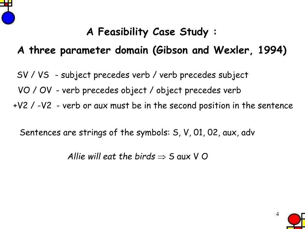A Feasibility Case Study :