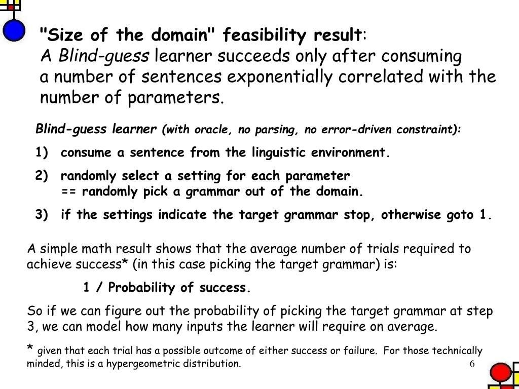 """Size of the domain"" feasibility result"