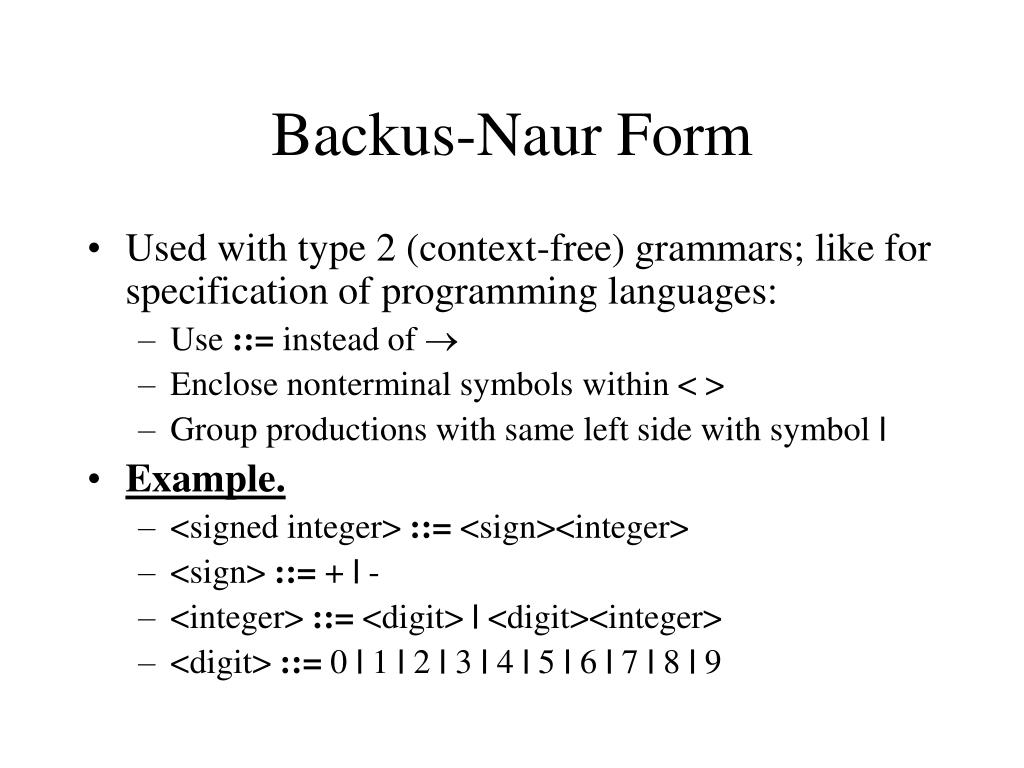 Backus-Naur Form