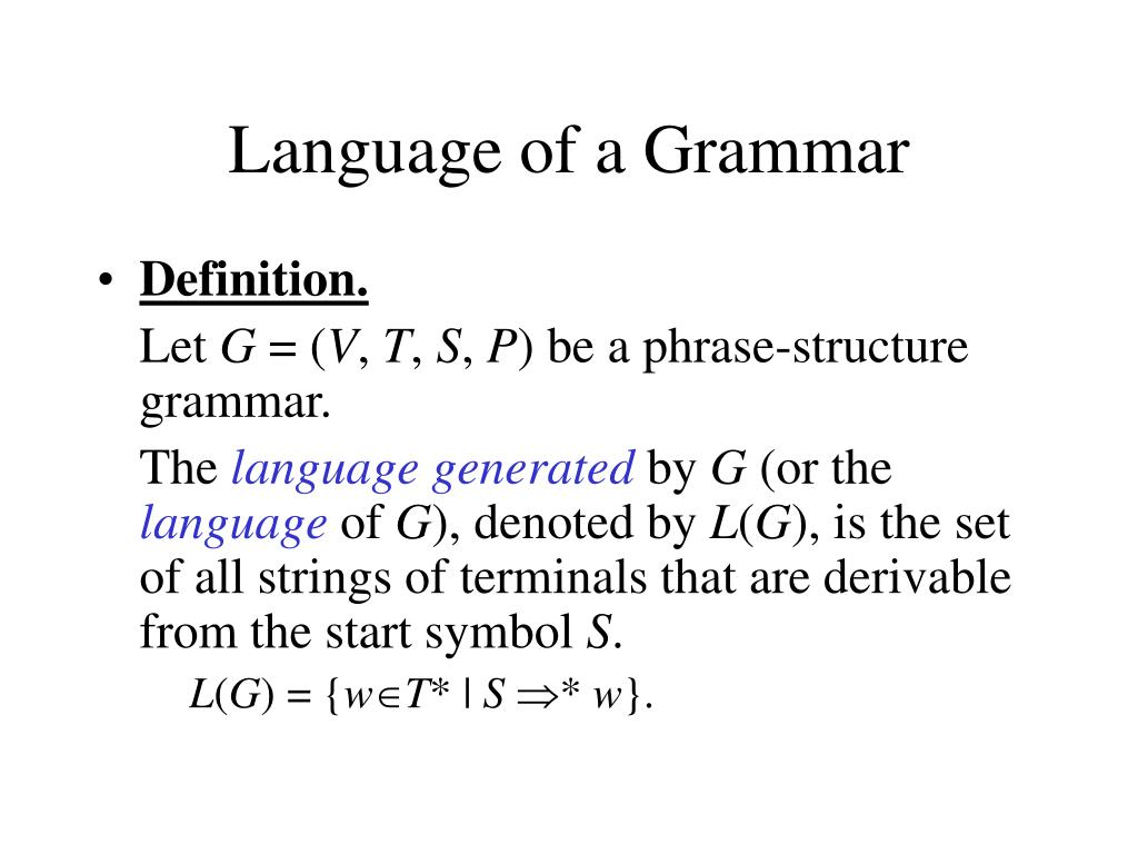 Language of a Grammar