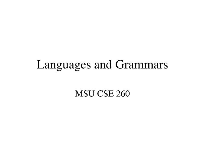 Languages and grammars l.jpg