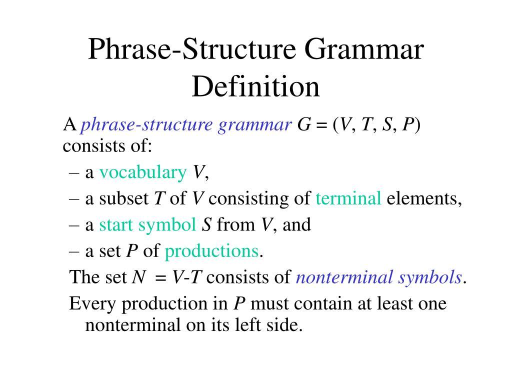 Phrase-Structure Grammar