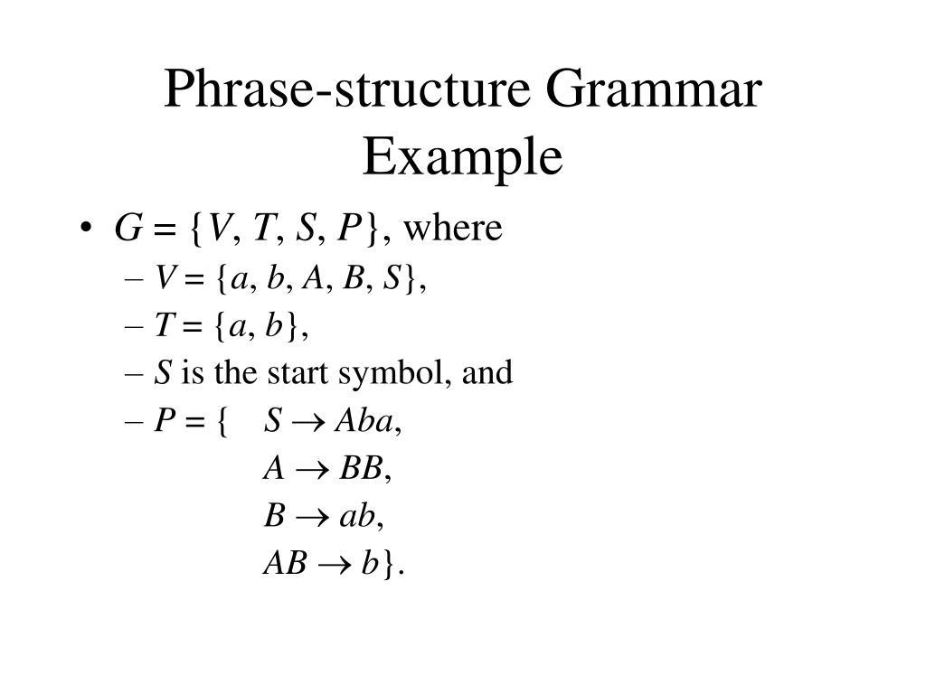 Phrase-structure Grammar Example