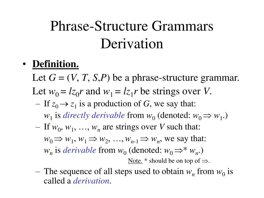 Phrase-Structure Grammars