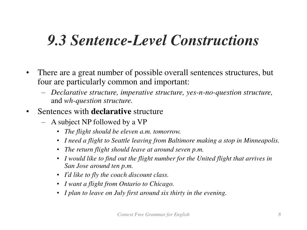 9.3 Sentence-Level Constructions