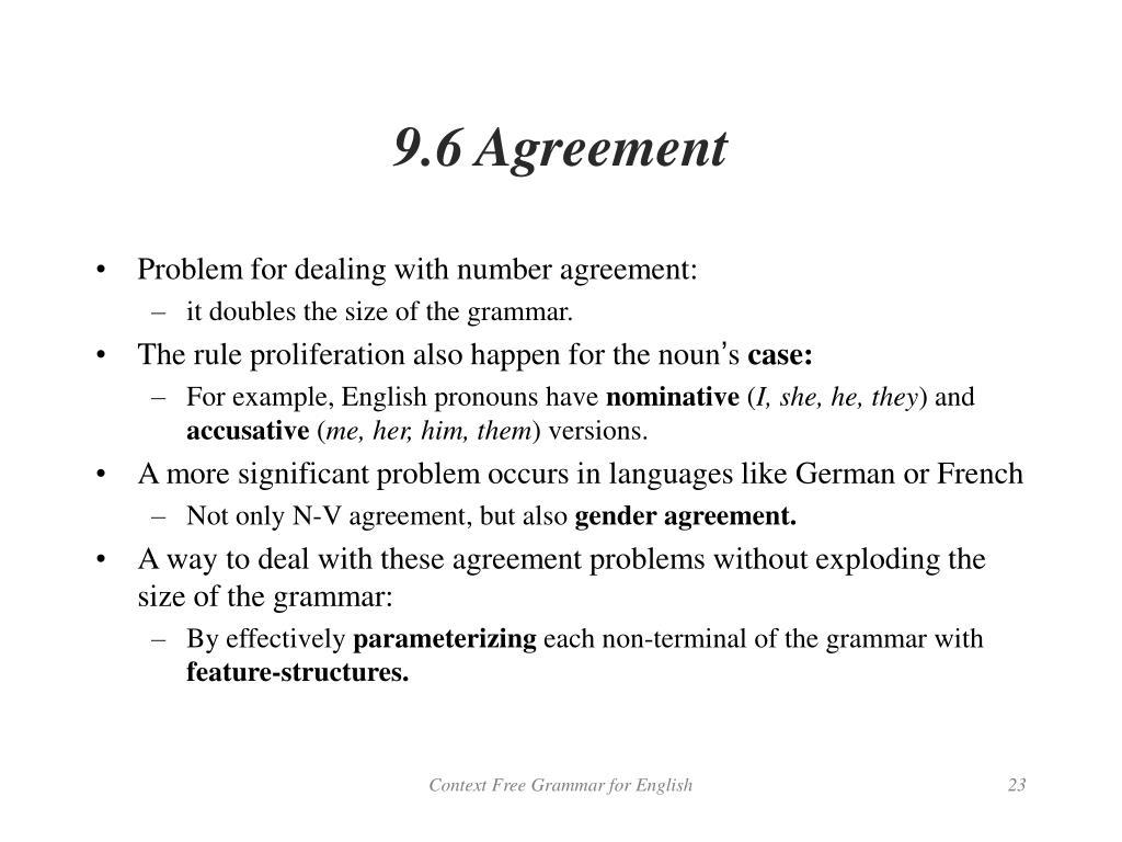 9.6 Agreement
