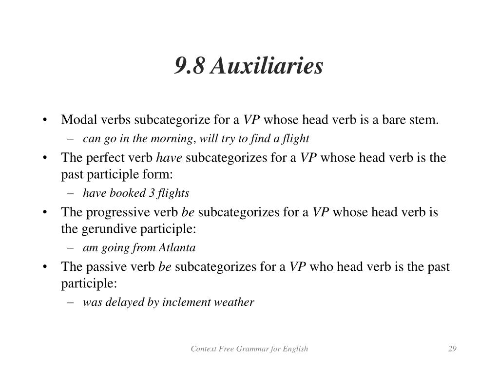 9.8 Auxiliaries