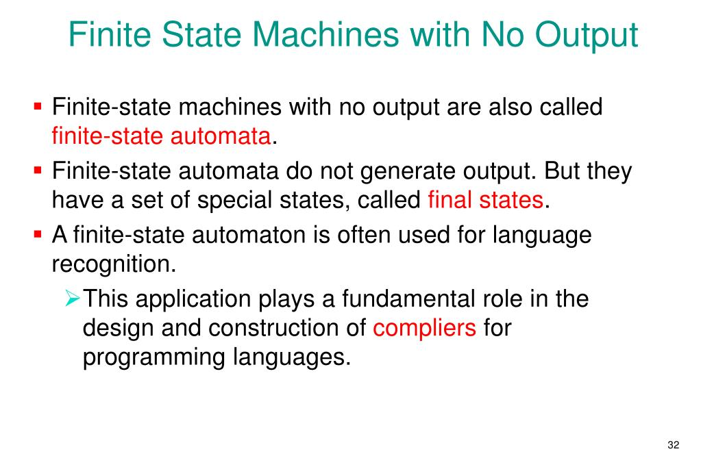 Finite State Machines with No Output