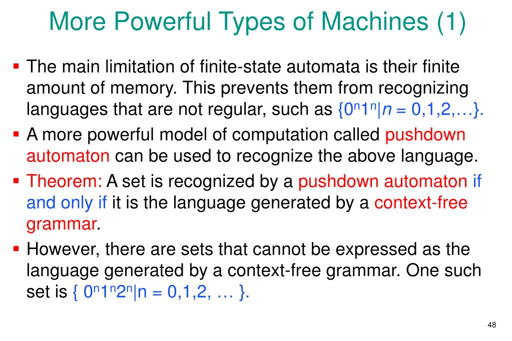 More Powerful Types of Machines (1)