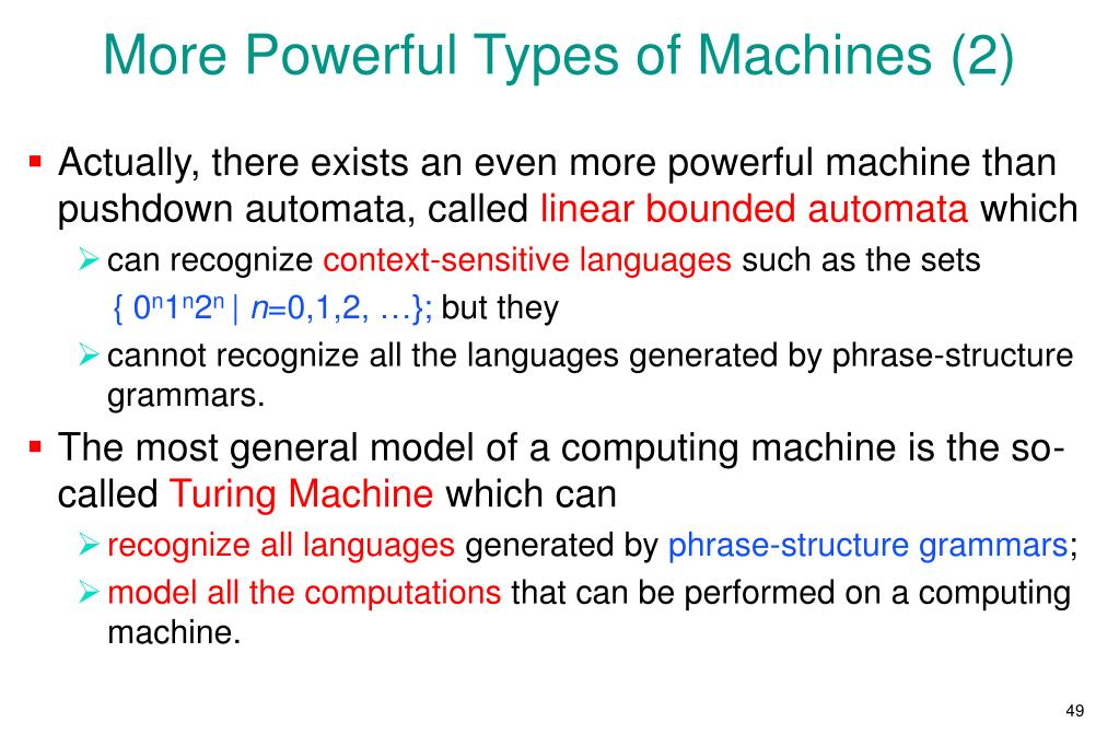 More Powerful Types of Machines