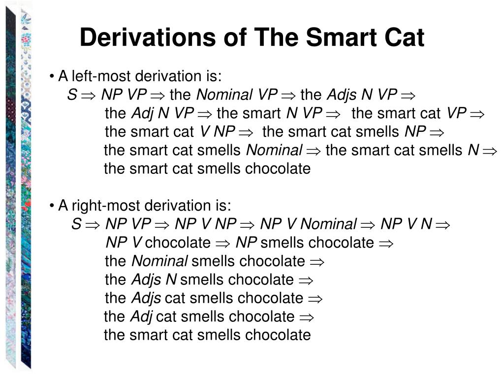 Derivations of The Smart Cat