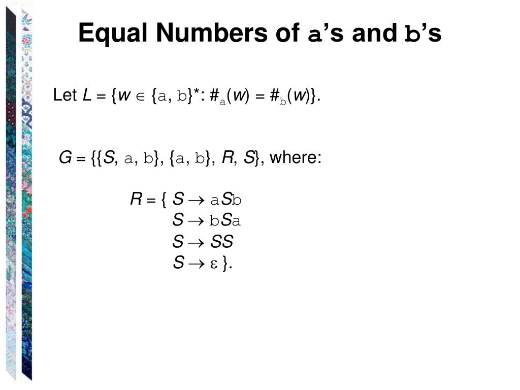 Equal Numbers of