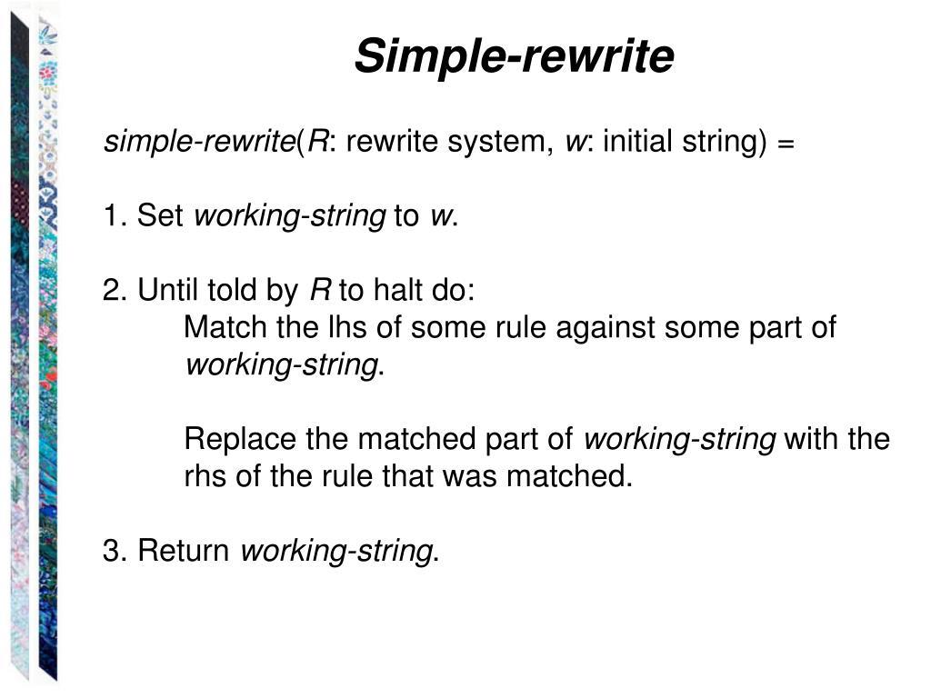 Simple-rewrite