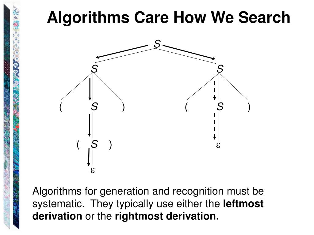 Algorithms Care How We Search