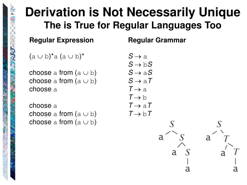 Derivation is Not Necessarily Unique