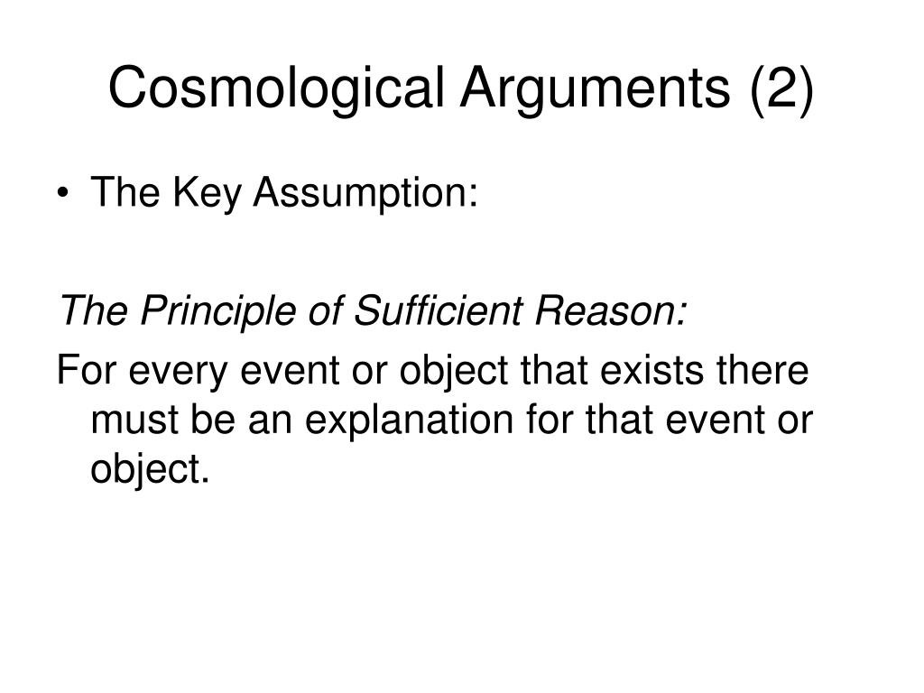 Cosmological Arguments (2)
