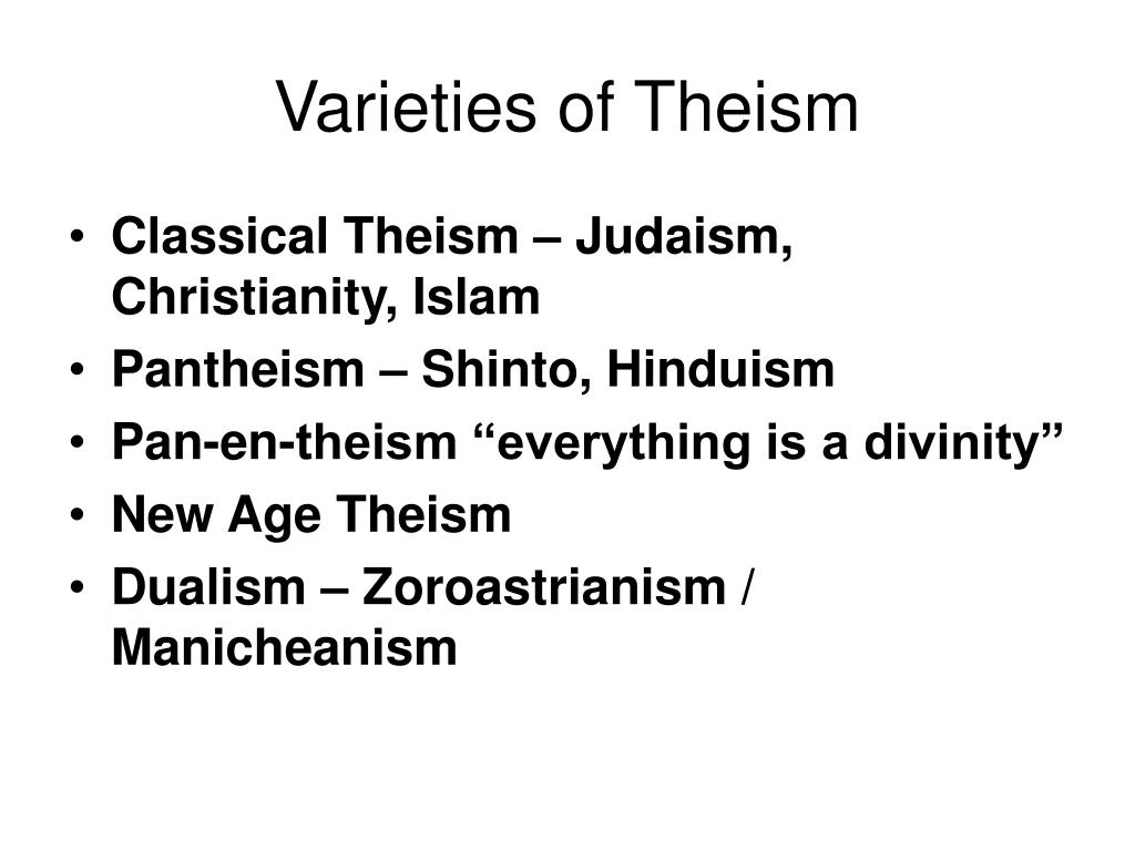 Varieties of Theism