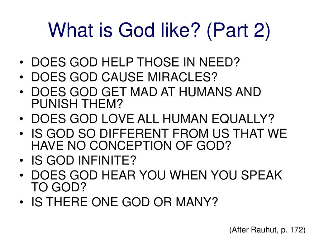 What is God like? (Part 2)