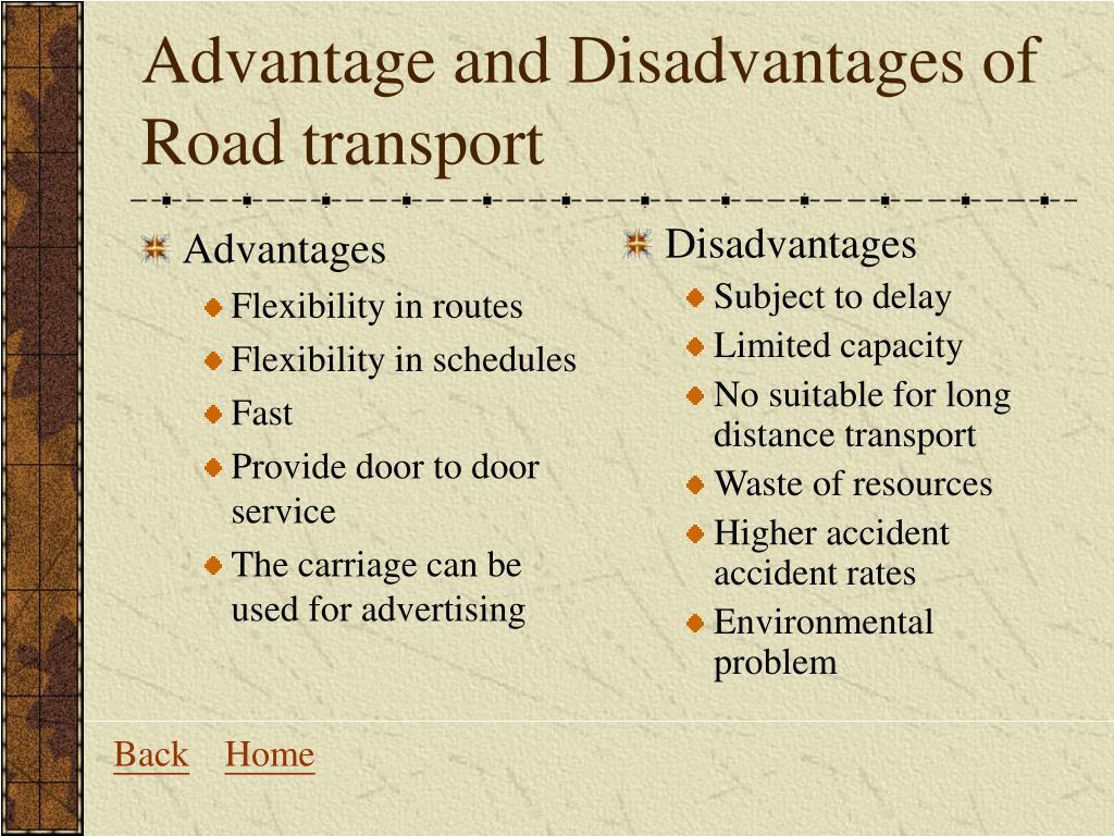 advantages of road transport
