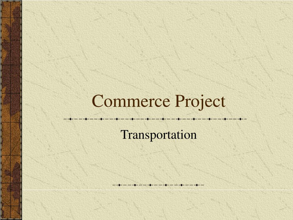 Commerce Project