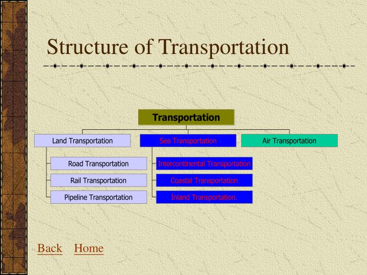 Structure of transportation