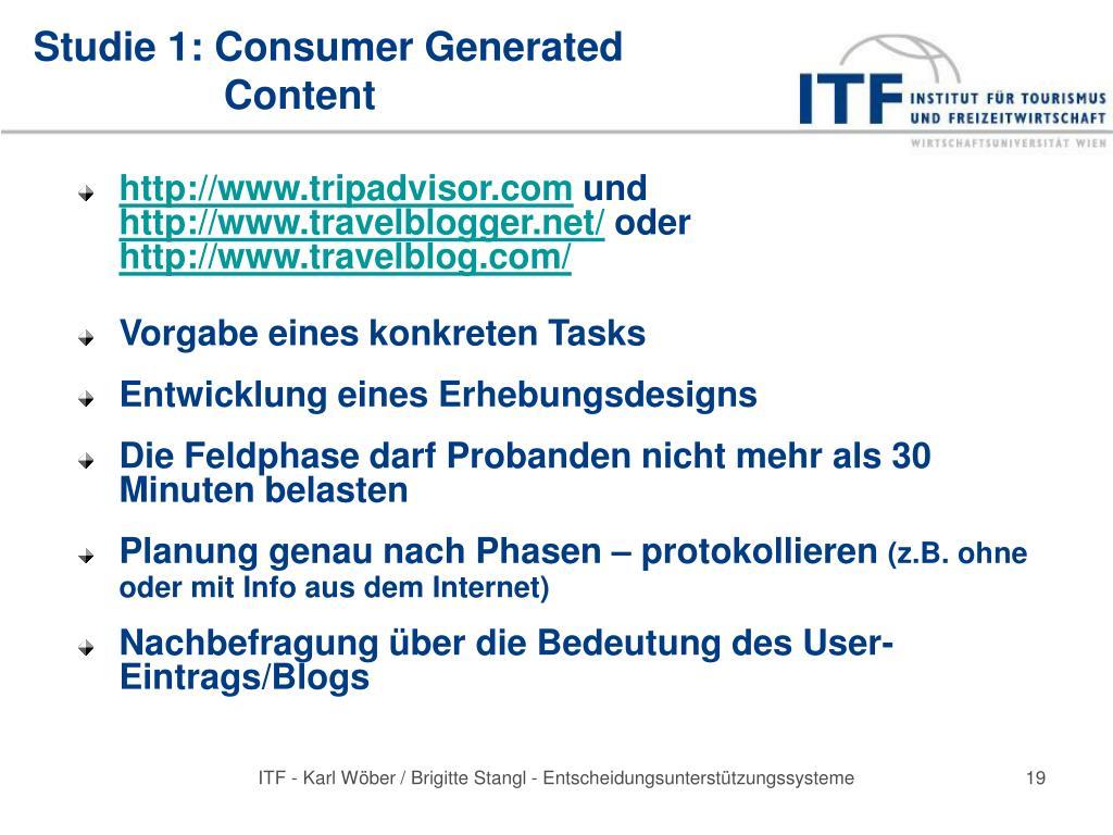 Studie 1: Consumer Generated