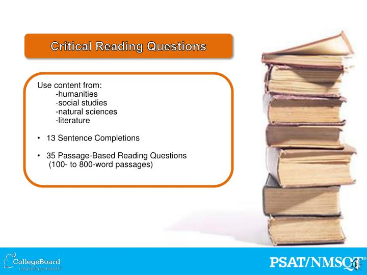 Critical Reading Questions
