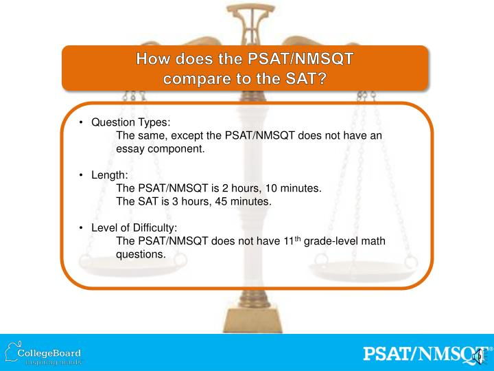 How does the PSAT/NMSQT