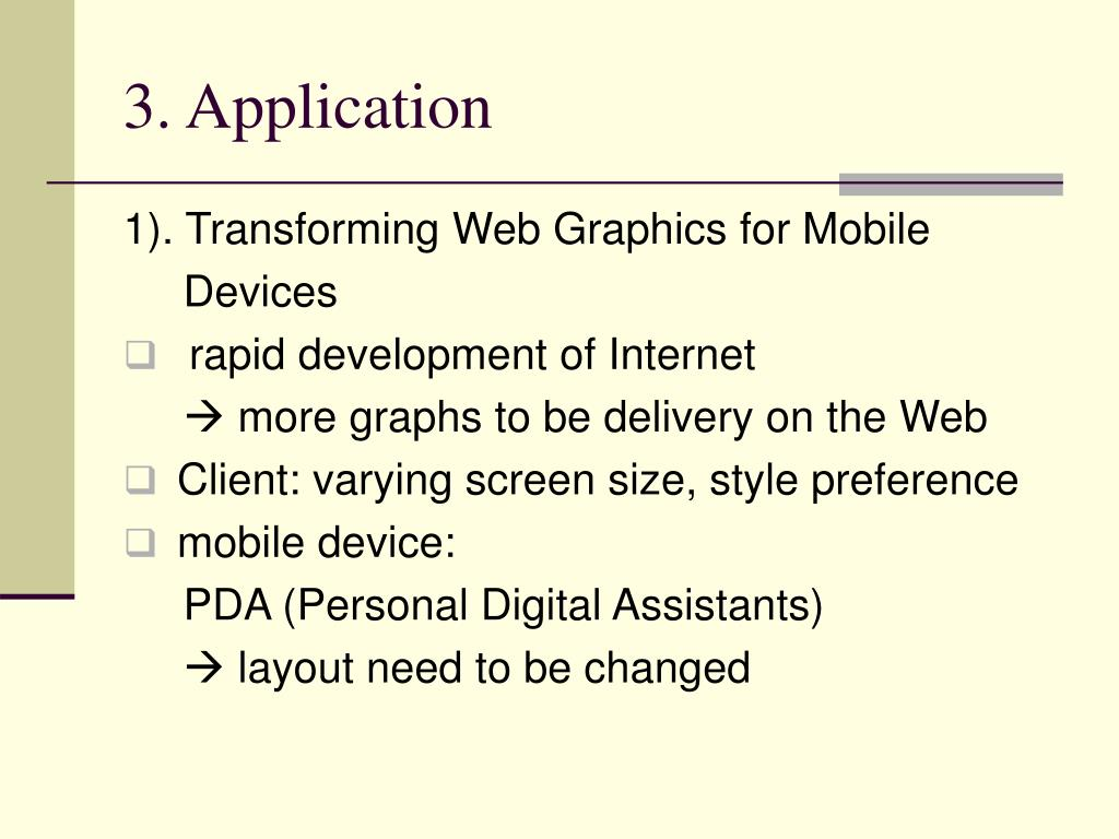 3. Application