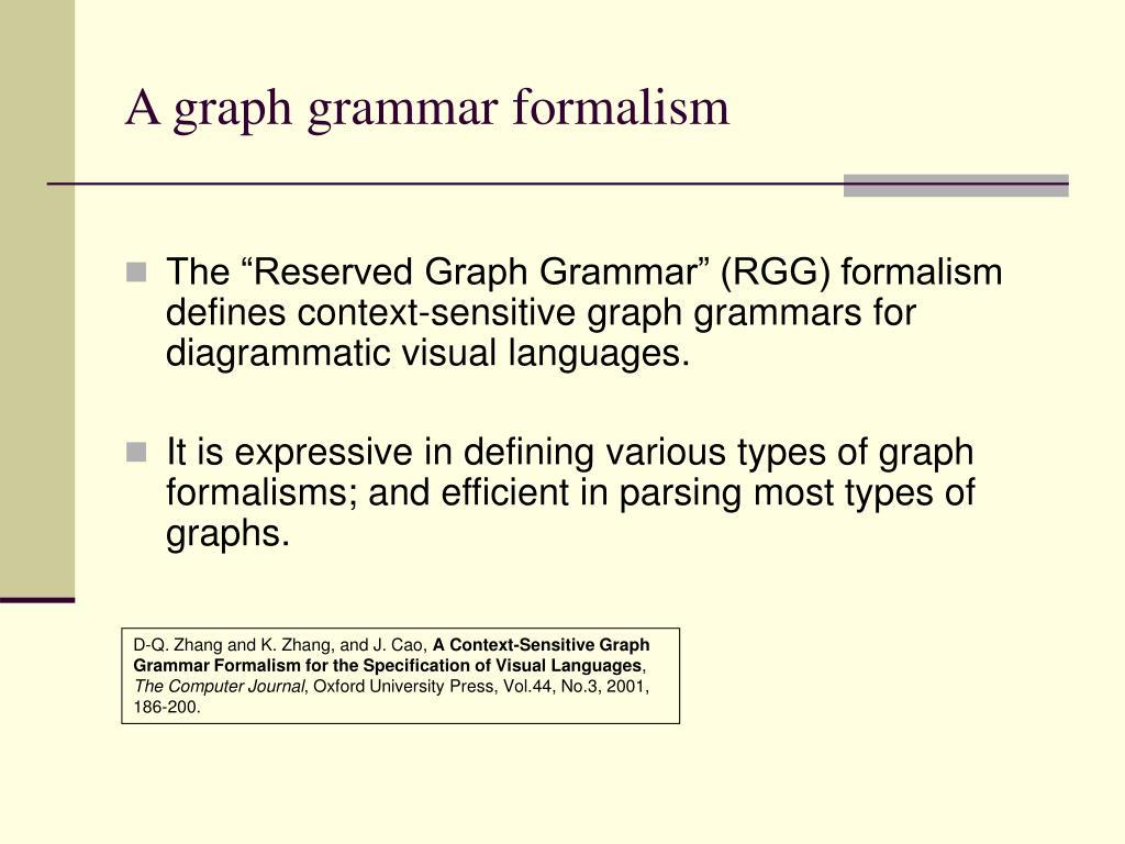 A graph grammar formalism