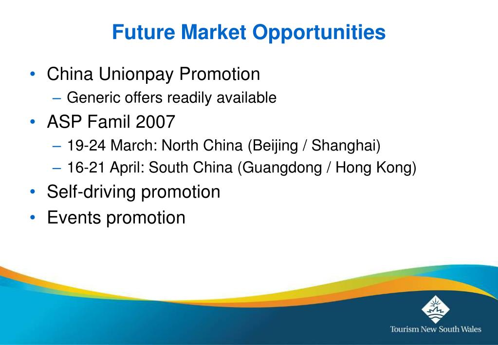 Future Market Opportunities