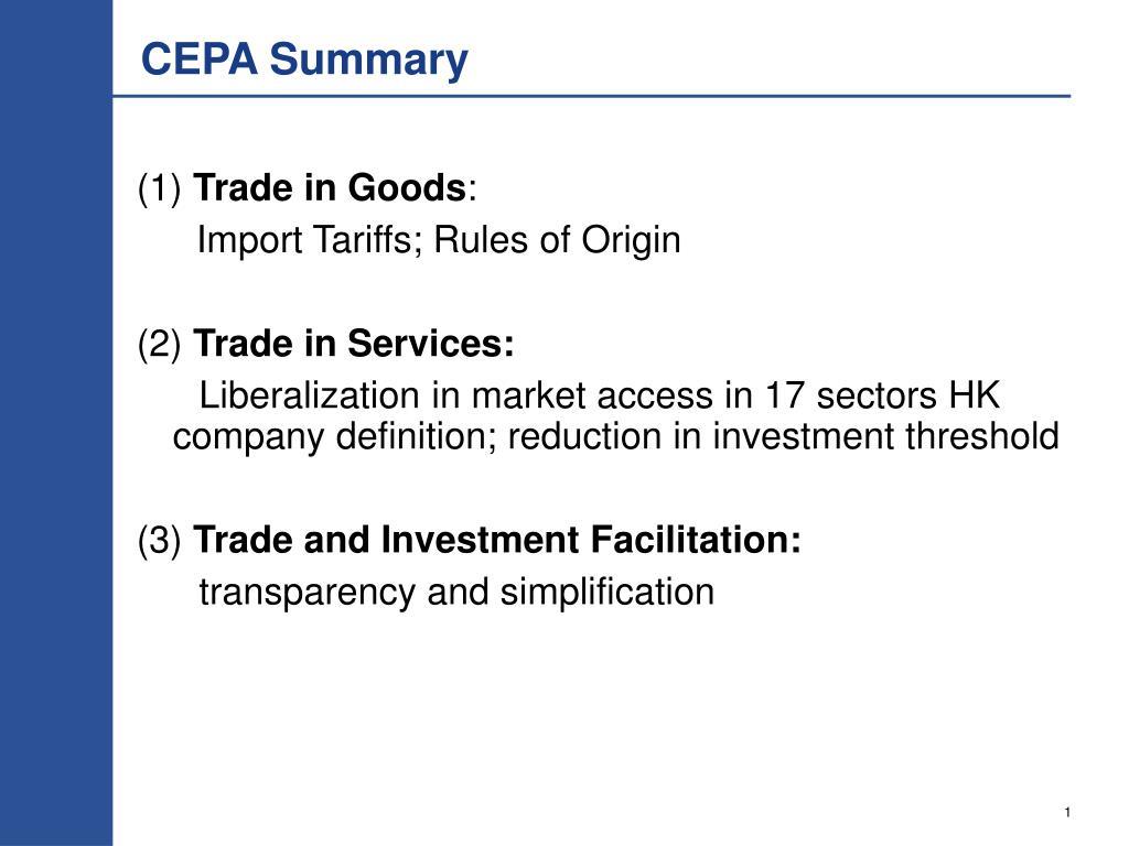 CEPA Summary