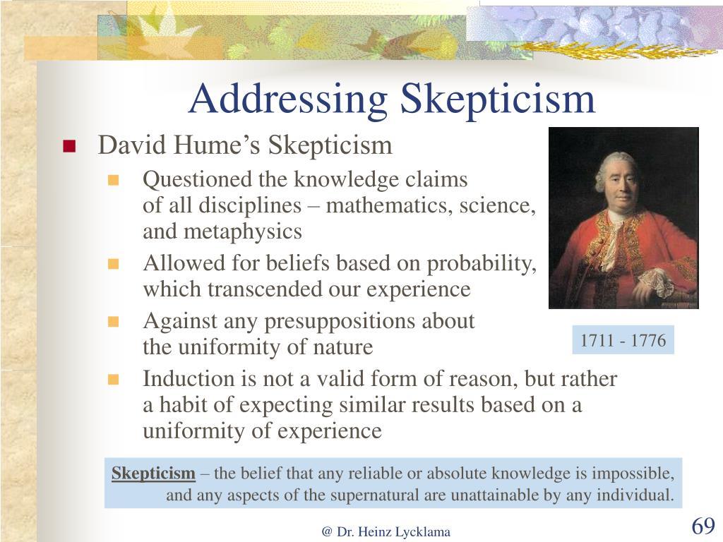 Addressing Skepticism