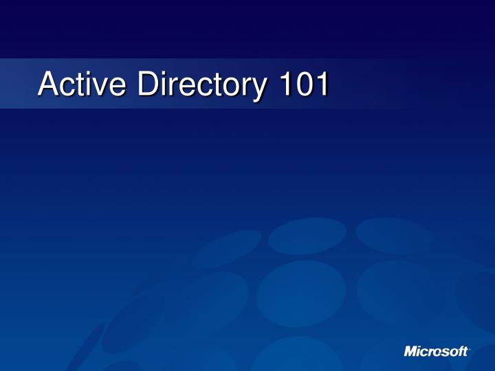 Active Directory 101