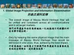 1 global image projection and information dissemination