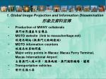 1 global image projection and information dissemination6