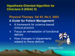 hypothesis oriented algorithm for clinicians ii hoac ii