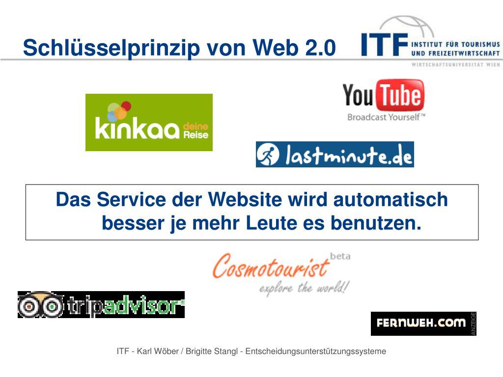 Schlüsselprinzip von Web 2.0