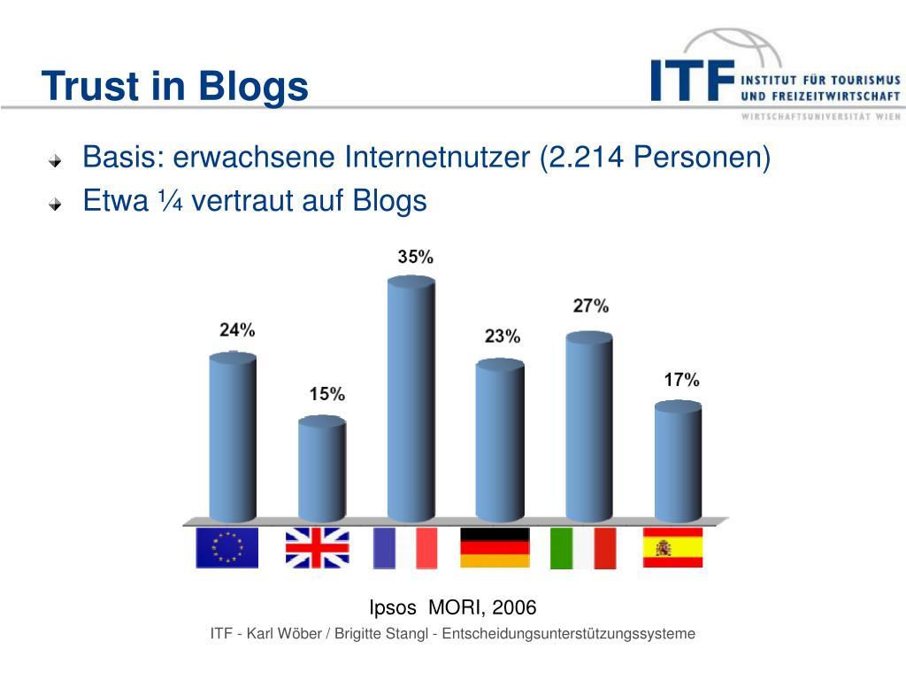 Trust in Blogs