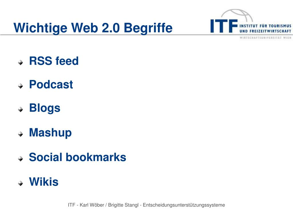 Wichtige Web 2.0 Begriffe