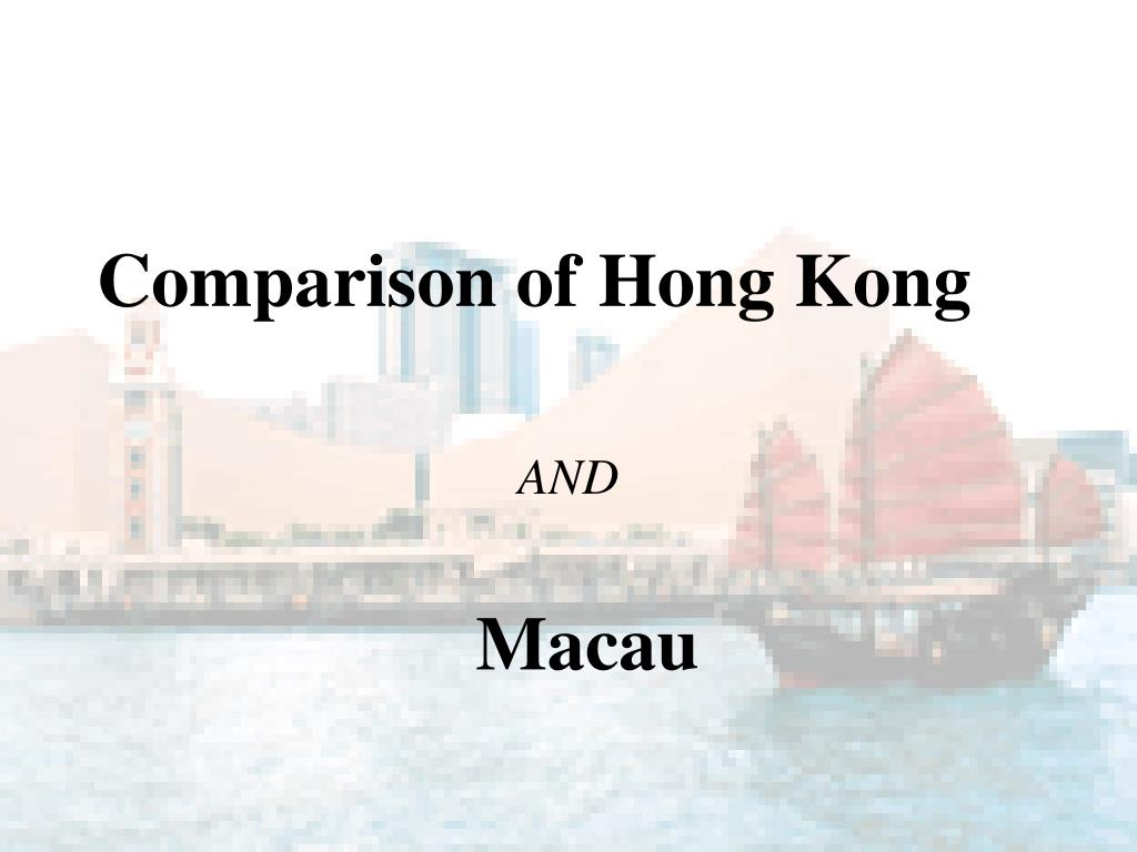 Comparison of Hong Kong